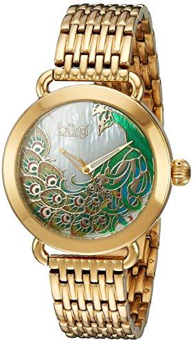 Burgi Women's Quartz Stainless Steel Casual Watch, Color:Gold-Toned (Model: BUR174YG)