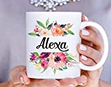 Coffee Mug Personalized Name Initials Profession for Work Office Gift Birthday Custom Watercolor Artwork Ceramic Tea Cup 11 Oz or 15 Oz 0052