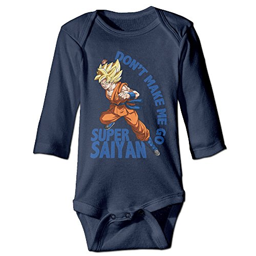 Dbz Outfits (CYANY Japanese Manga DBZ SUPER SAIYAN Boys & Girls Long Sleeve Romper Outfits Size 6 M Navy)