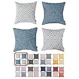 Best Pillow Case For Couches - HOMEPLUS Plaid Cotton Decorative Pillow Covers 4 pcs Review