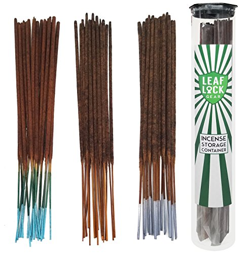 Bundle - 61 Items - Wild Berry Incense De-Stress Scent Sampler. Includes 20 Sticks Each of Lavender, Frankincense, and Tranquility with Incense Stick Storage Container