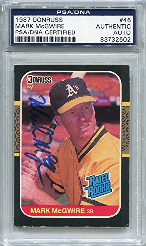 Mark McGwire Oakland Athletics PSA/DNA Certified Authentic Autograph - 1987 Donruss (Autographed Baseball Cards)