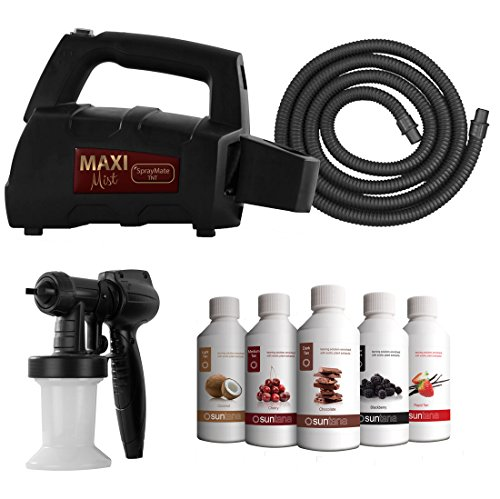MaxiMist SprayMate TNT Spray Tanning System with FREE Suntana Premium Sunless Solutions