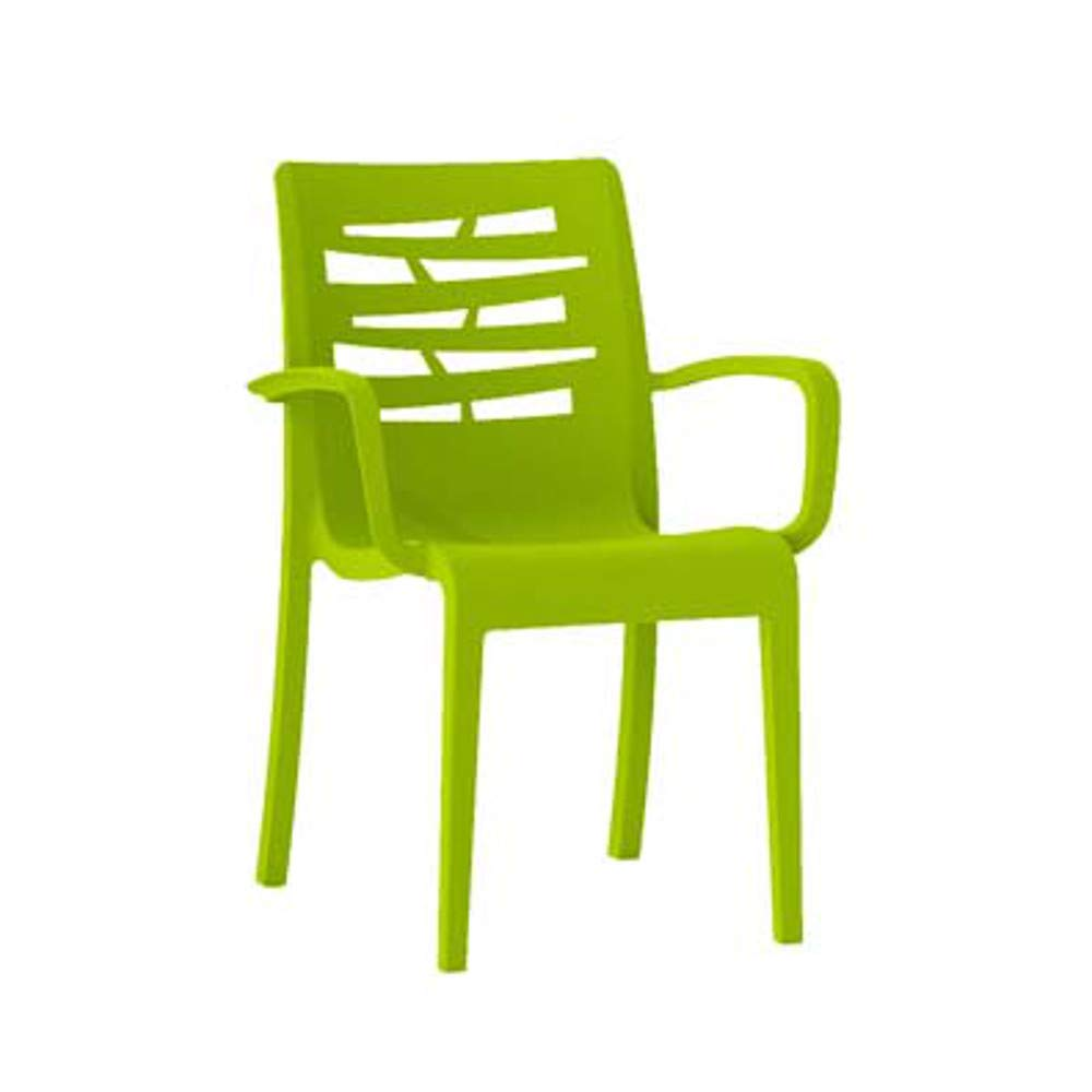 Grosfillex US118152 Essenza Stacking Armchair, Fern Green (Case of 16)