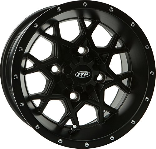 "ITP Hurricane Matte Black Wheel with Machined Finish (14x7""/4x110mm)"