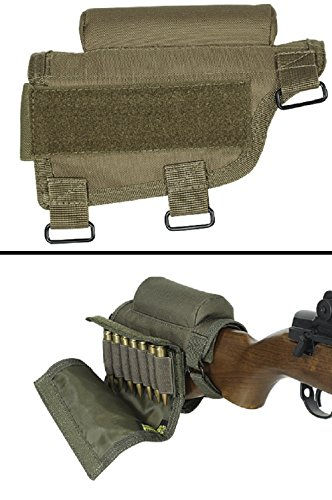 Ultimate Arms Gear Rifle Ammo Round Shot Shell Cartridge Hunting Stock Buttstock (Rifle Mag Pouch Belt Loop)