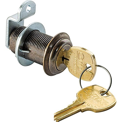 1-3/16 Long Cylinder Lock - Antique brass, keyed alike