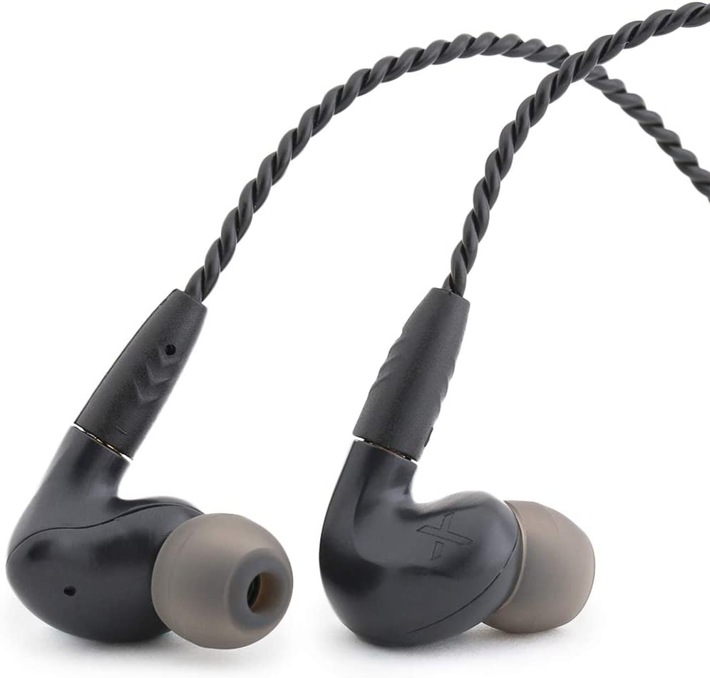 Massdrop X MEE Audio Pinnacle Px In-Ear Monitors — Audiophile Headphones with Omnidirectional Microphone and Remote, Detachable Braided Cable, Balanced Response, and Comply and Silicone Ear Tips, Blue