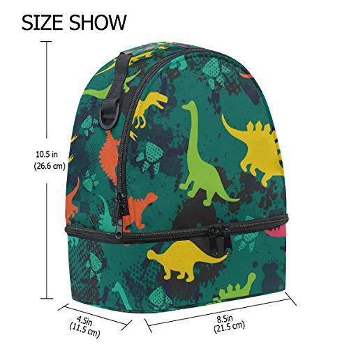 almuerzo el correa diseño hombro para de pincnic con de para dinosaurio con Alinlo de Bolsa aislante la ajustable escuela 4wEnz74qFf