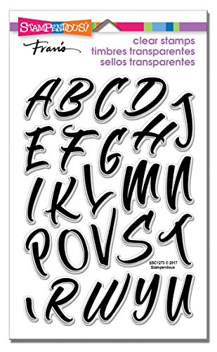 Stampendous SSC1273 Brush Alphabet Caps Clear Stamp -