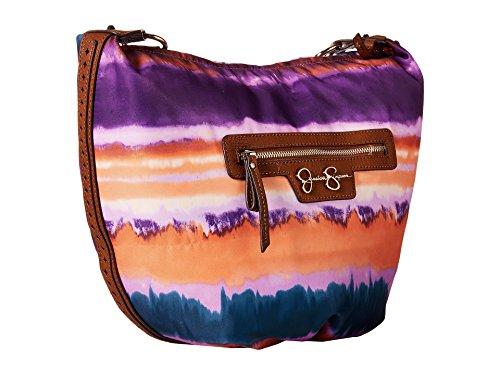 Adjustable Printed Ikat Womens Nylon Luggage Crossbody Jessica Christina Degrade Simpson Handbag wqAZn7Fa