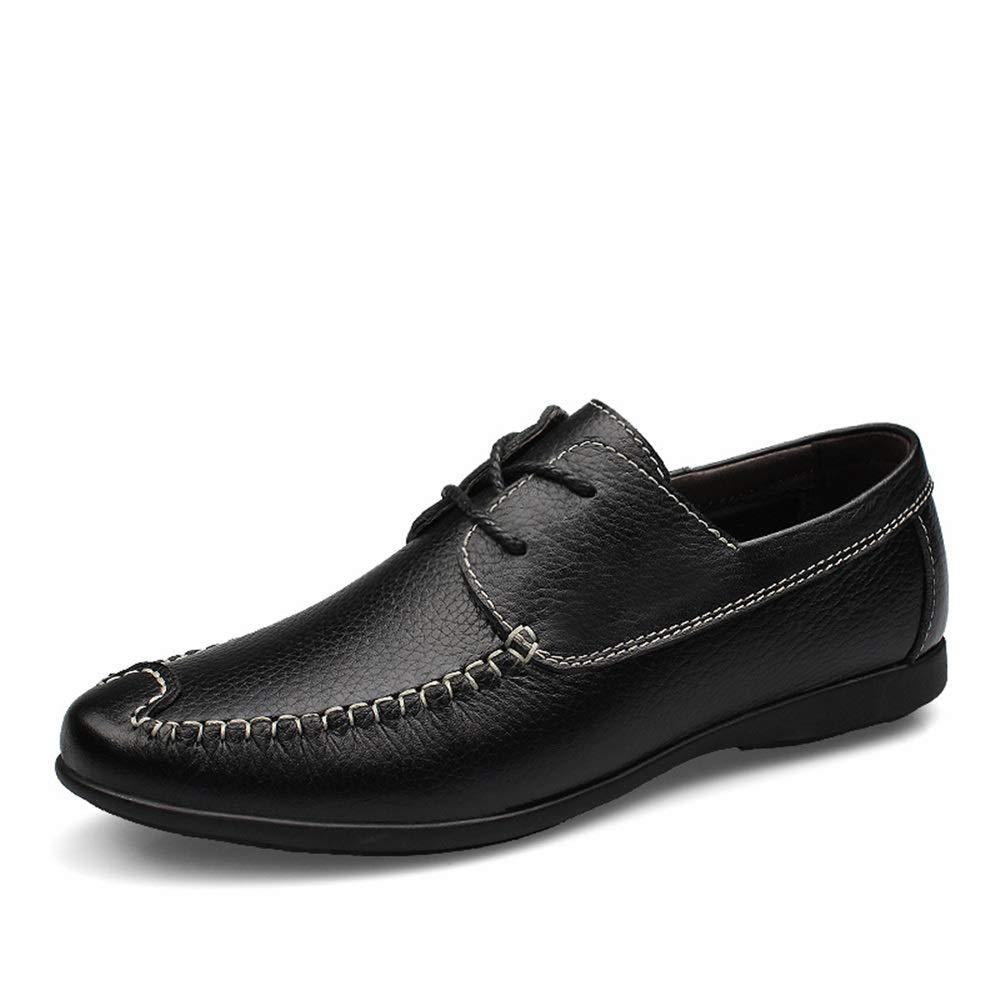 Schwarz 40 EU YUQINN Herren Business Oxfords Arbeiten formelle Schuhe schn&uu ;ren echtes Leder perforiert atmungsaktiv N&au ;hte Antislip Abendschuhe (Farbe   Schwarz, Gr&ou ;ße   40 EU)