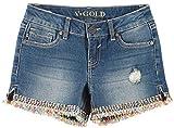 VIGOSS Big Girls Pixel Art Denim Shorts 16 Cloud wash Blue Multi