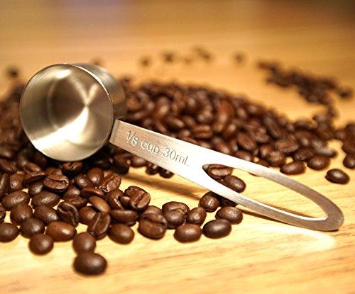 Coffee Gator Stainless Steel Measuring Scoop | 1-Pack | 1floz / 30ml | Plus Coffee eBook