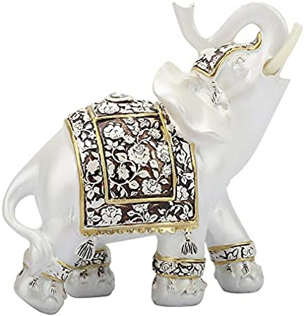 ★ SÍMBOLO ESPECIAL: Este adorno de elefante que levanta su nariz representa prosperidad, buena suert