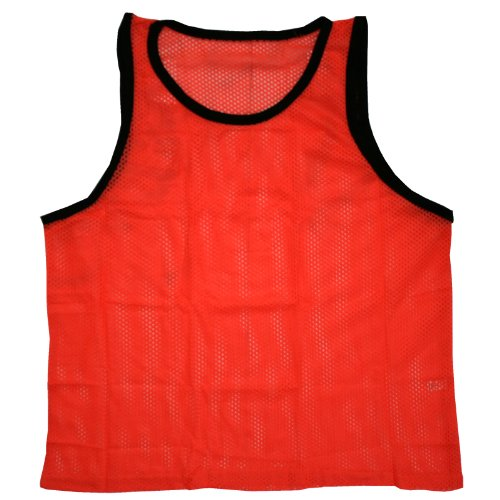 BlueDot Trading Youth Sports Pinnie Scrimmage Training Vest, Orange, 1 Pack
