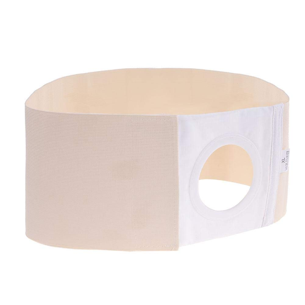 Unisex Stoma Belt, Breathable Stoma Bandage Skin Stoma Supply, Post Colostomy Abdominal Stoma Bandage, Abdominal and Back Support Belts, available in 3 sizes(L) by Clina
