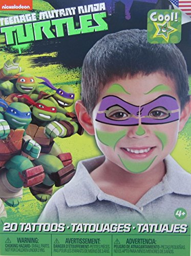 Teenage Mutant Ninja Turtles Mask Children Temporary Tattoos – Donatello (Ninja Turtles Face)