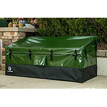Image of YardStash Outdoor Storage Deck Box XL: Easy Assembly, Portable, Versatile (150 Gallon, 20 Cubic Feet, Green) Home Improvements
