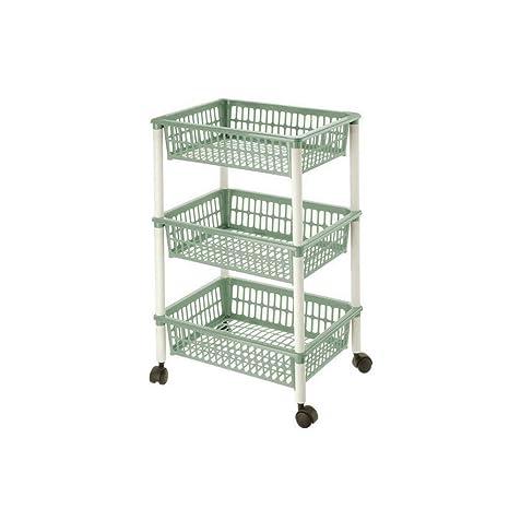 Lennox - Carrito verdulero 4 cestos 30 x 18 x 40 cm, verde: Amazon.es: Hogar