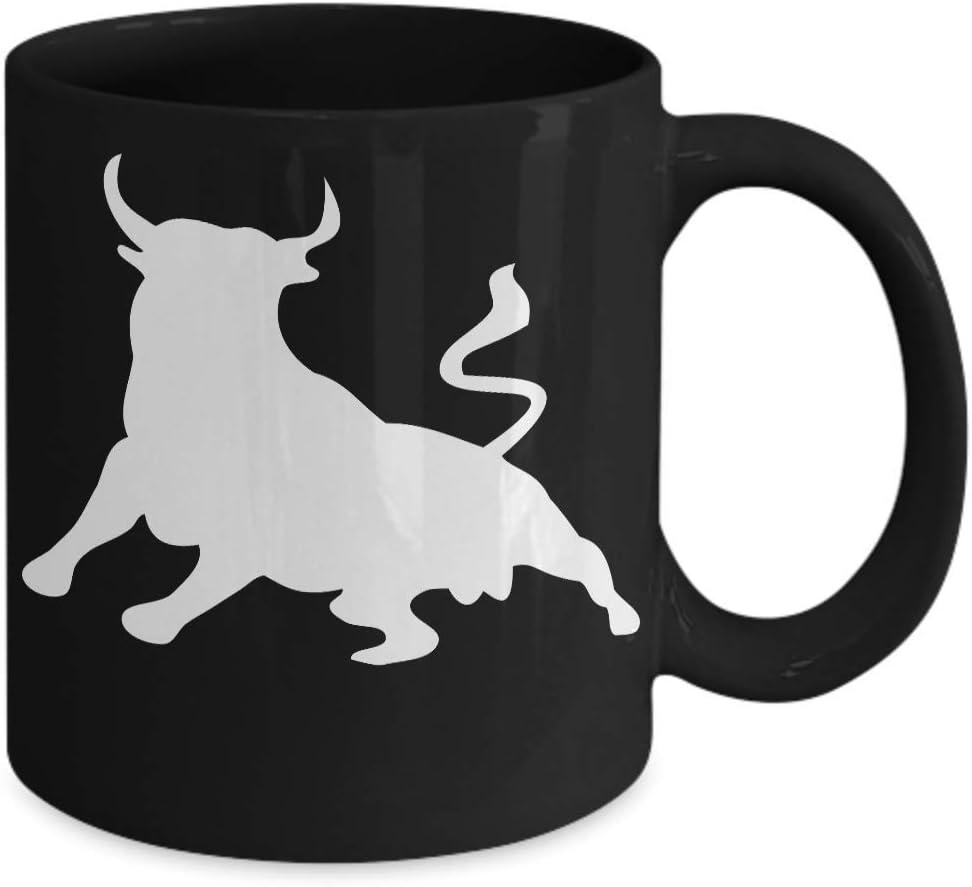 Wall Street Bull - Taza de café para inversor, diseño de toro: Amazon.es: Hogar