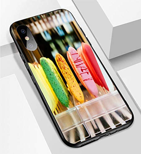 iPhone X/XS Ultra-Thin Phone case Delicious Italian ice Cream in Italy Anti-Drop Anti-Slip Soft Convenient Protective Shell