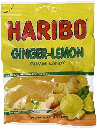 Haribo Ginger-lemon Gummi Candy 4 Oz each (pack