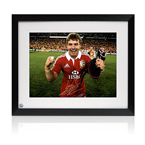 Signed And Framed Leigh Halfpenny British Lions Rugby Photo: Victory In - Australia Shop Com