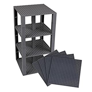 """Strictly Briks Classic Baseplates 6"""" x 6"""" Brik Tower 100% Compatible with All Major Brands 