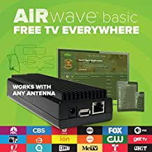 AirWave Wireless Media Player - 70 Miles Amplified HDTV Outdoor Antenna for Live Over-The-Air OTA Programming - Free Broadcast Channels, Shows, Sports, and News Through Mohu TV App