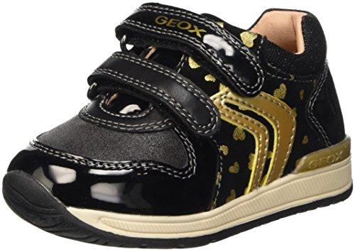 Geox B Rishon Girl B, Botines de Senderismo para Bebés Negro (Black / Gold C0495)