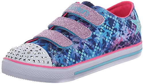 Skechers Little Kid (4-8 Years) Twinkle Toes: Chit Chat-Prolifics Blue/Multi Light-Up Sneaker - 1.5 M US Little Kid -