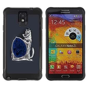 Be-Star único patrón Impacto Shock - Absorción y Anti-Arañazos Funda Carcasa Case Bumper Para SAMSUNG Galaxy Note 3 III / N9000 / N9005 ( Funny Evil Wolf )