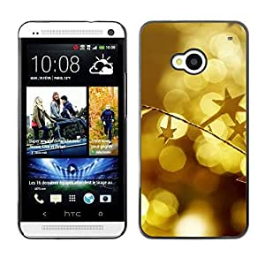 YOYO Slim PC / Aluminium Case Cover Armor Shell Portection //Christmas Holiday Gold Decorations 1095 //HTC One M7