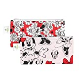 Bumkins Disney Baby Reusable Snack Bag Small 2 Pack, Minnie Mouse (Classic/Red)