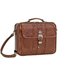 American West Unisex Leather Laptop Briefcase - 8565910