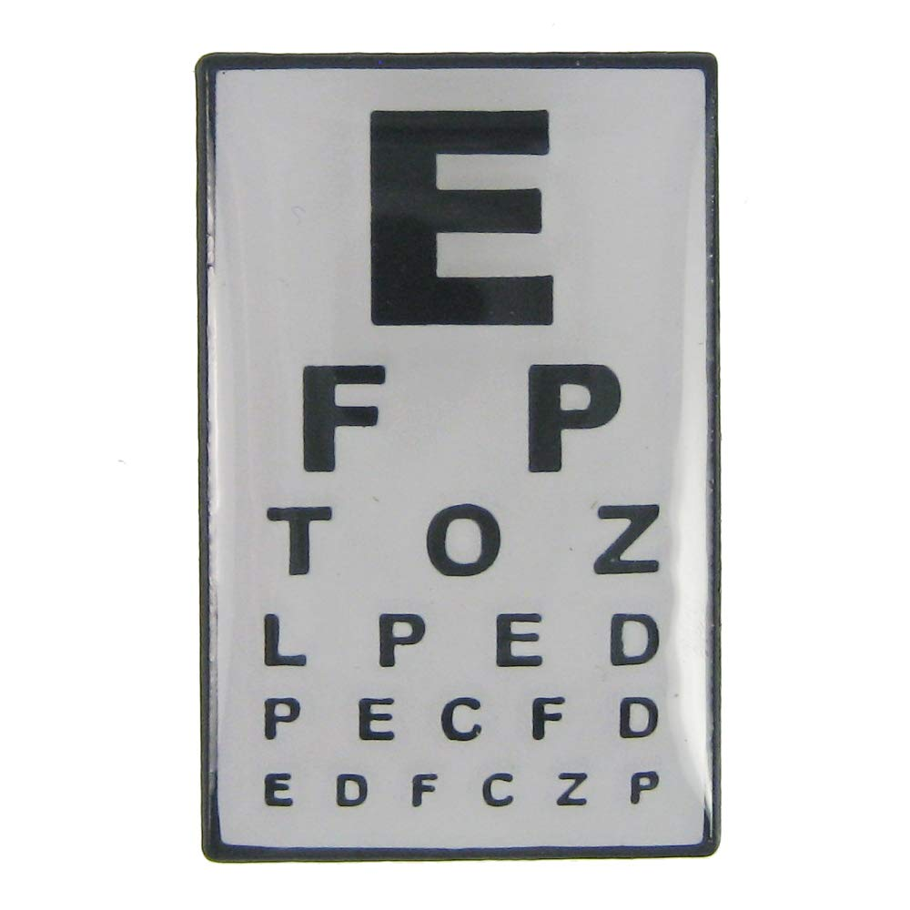 Jim Clift Design Eye Chart Enamel Lapel Pin - 25 Count