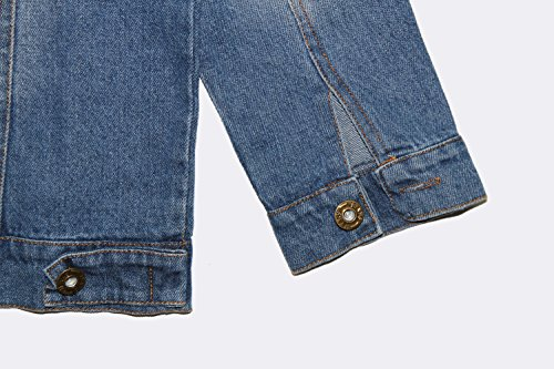 Aulase Denim Jackets Girl Denim Jackets Classic Basic Button Down Coat Girls' Outwear 6-7Y by Aulase (Image #6)