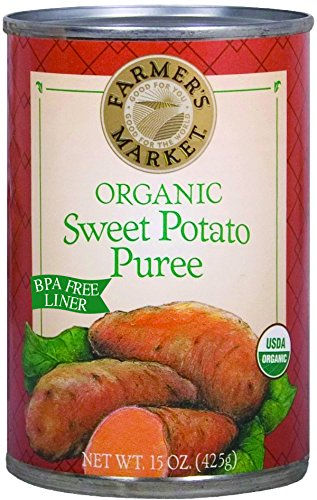 Farmer's Market Organic Sweet Potato Puree, 15-Ounce Cans (Pack of (Organic Sweet Potato)