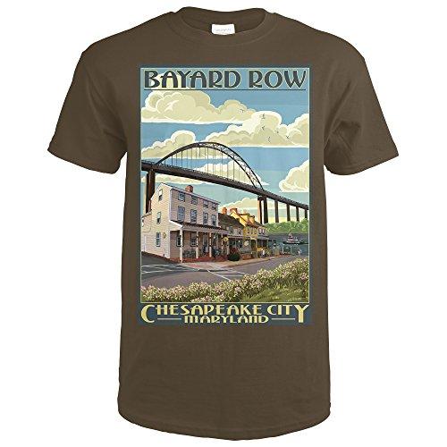 Bayard Row - Chesapeake City, Maryland (Dark Chocolate T-Shirt ()