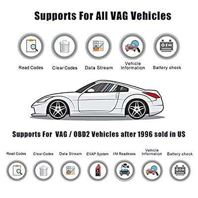 ANCEL VD700 All System OBD2 Scanner with 8 Special Functions for VAG Vehicles Diagnosis Code Reader Oil TPMS EPB TPS Reset Injector Adaption Steering Angle Learning DPF Scan Tool: Automotive