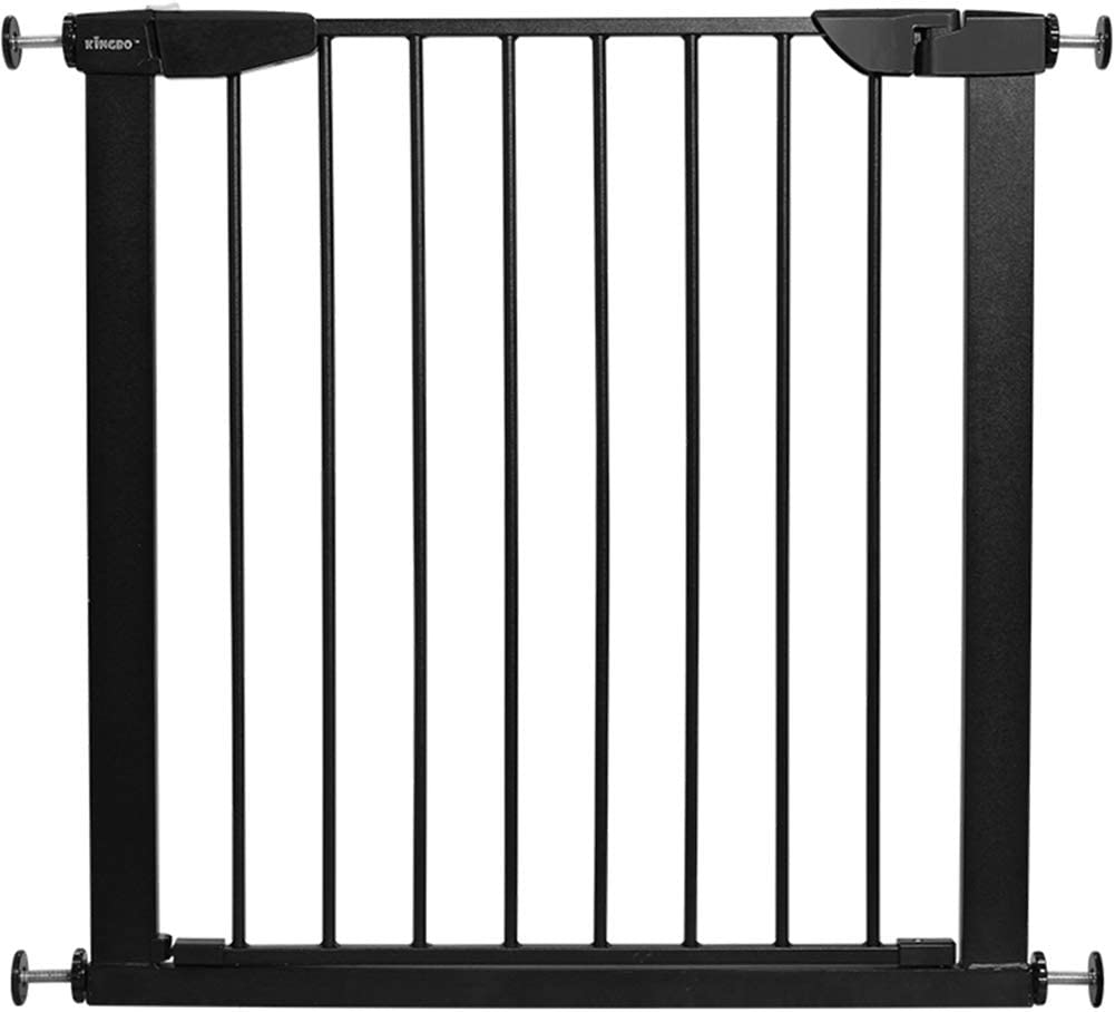 25.59-84.65 Fairy Baby White Extra Wide or Narrow Baby Gate Pressure Mounted Pet Gate Walk Thru Child Safety Gate with Extensions