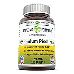 Amazing Nutrition Chromium Picolinate 200 Mcg 240 Tablets