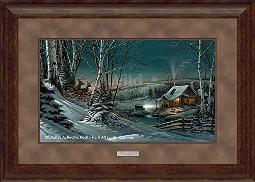 Evening with Friends Elite Framed Print by Terry Redlin (Terry Redlin Best Friends Print)
