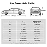 Kayme 6 Layers Car Cover Waterproof All Weather for Automobiles, Outdoor Full Cover Rain Sun UV Protection with Zipper Cotton, Universal Fit for Hatchback