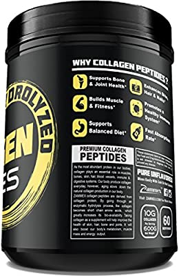 Premium Hydrolyzed Collagen Peptides(21oz) - Best Value|Non-GMO, Grass-Fed, Gluten-Free, Pasture Raised Cattle|Unflavored and Easy to Mix - 100% Pure Ultimate Collagen Powder Type 1&3