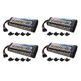 Venom 7.2v 4600mAh 6-Cell NiMH Battery with Universal Plug System x4 Packs