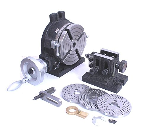 HV6 Rotary Table, Steel Dividing Plates Set & Tailstock with Free Manual-Milling Indexing Kit by Global Tools (Image #1)