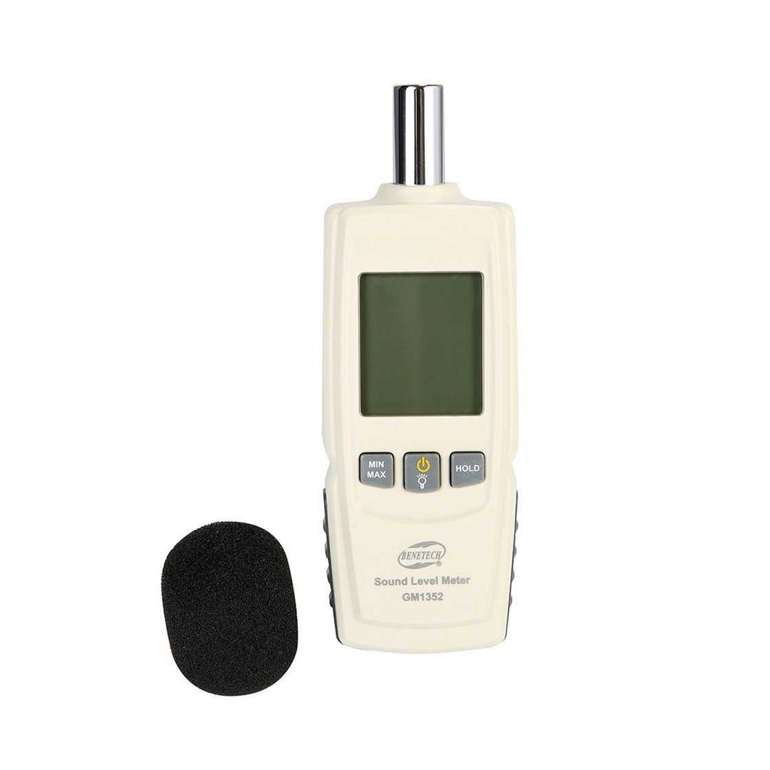BENETECH GM1352 30-130dB Digital Sound Level Meter Bruit Contr/ôle de Volume Audio Test dB D/écibels D/étecteur avec R/étro/éclairage LCD