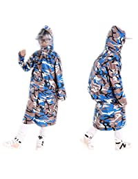 October Elf Kids Children Hooded Raincoat Rain Jacket Poncho with Bag Cover